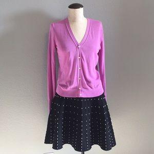 Zara black knit skirt with white top stitching